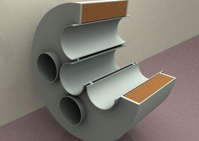 Cámara reactiva tubos lisos