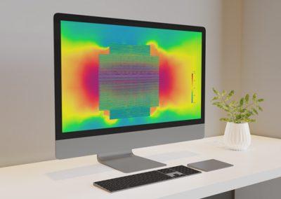 Fluid dynamic analysis of air flow inside a PC case