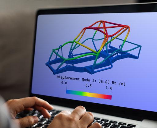 Vehicle chassis modal analysis